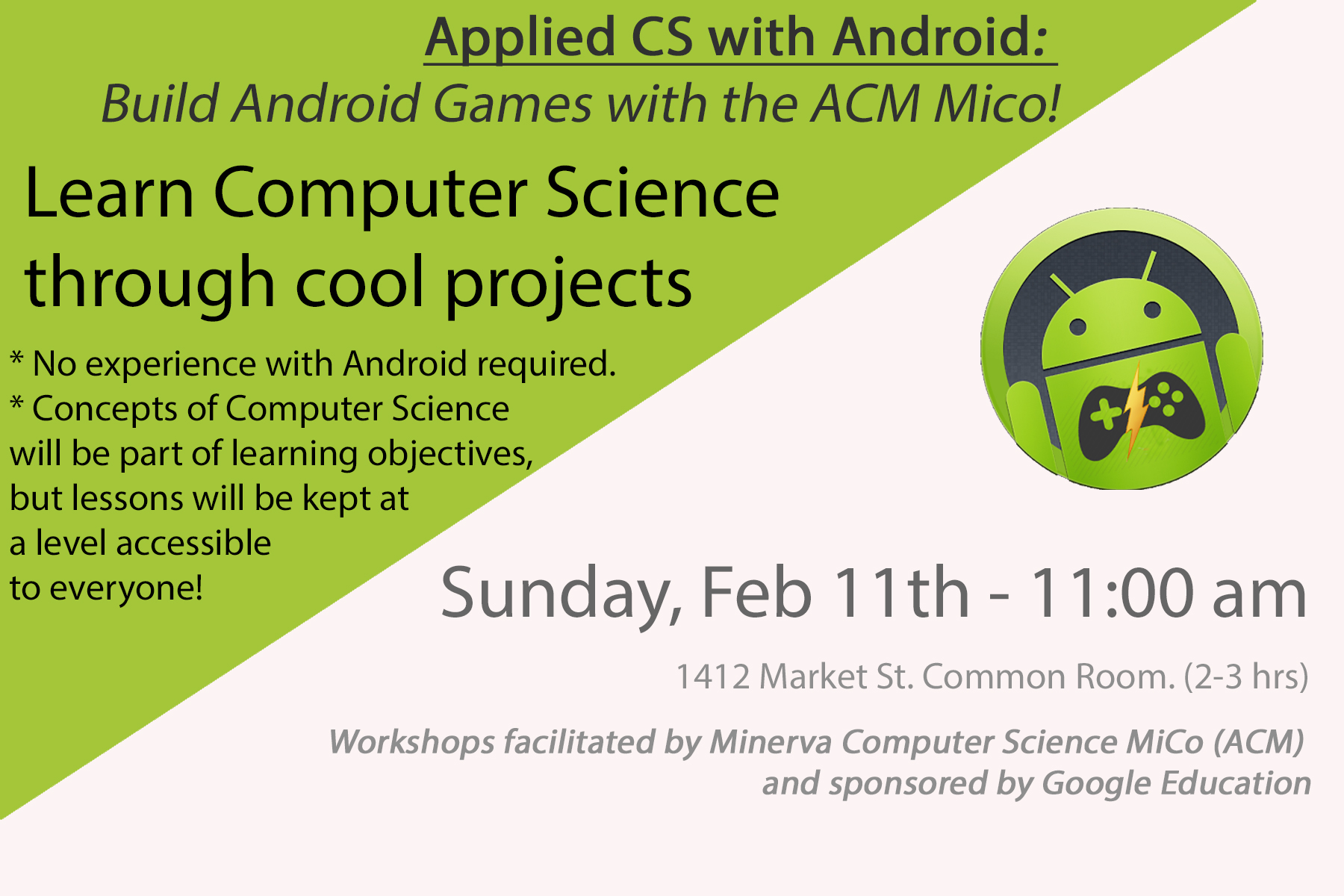 Android Workshops Poster
